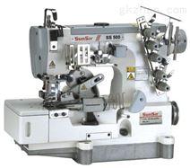 高速平台式绷缝机(带修边器上花边松紧带用,自动切花边松紧带装置