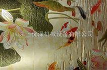 uv打印机,瓷砖打印机,玻璃喷绘机 南京雕效果背景墙设备