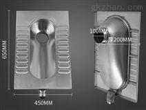 福建泉州旱厕改造用不锈钢蹲便 环保厕具