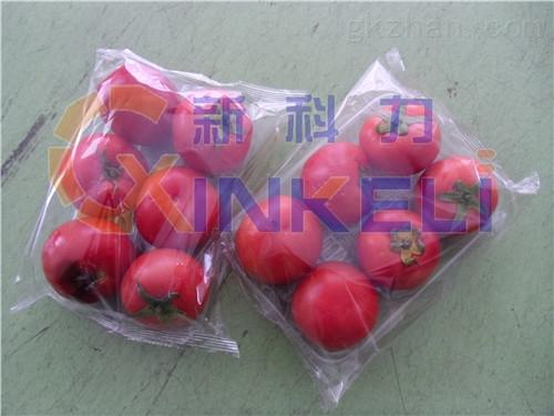 西红柿毛瓜带托盒自动包装机