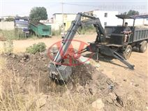 帶挖機裝載運輸隨車挖 工程運輸車