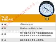 YEATHEI60MM100MM-径向轴向真空负压气压表-0.1-0MPA