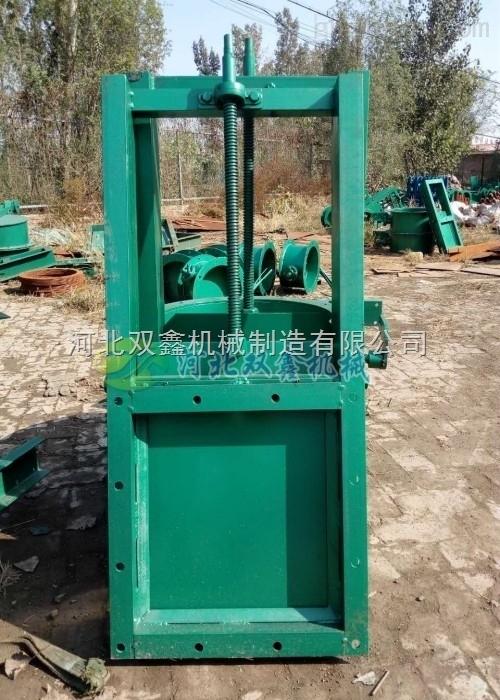 河北双鑫生产供应方口圆口插板阀 螺旋闸阀 厂家直销 规格齐全