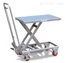 不锈钢脚踏升降平台车
