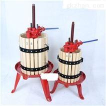 手动木质葡萄汁渣压榨分离机