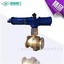 YQ647Y-16T氧气专用气动作用固定球阀