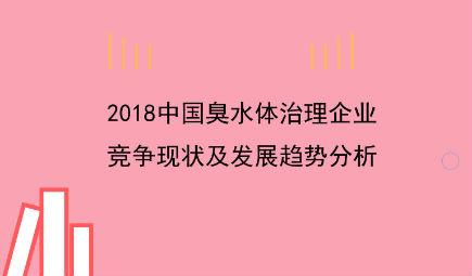 2018中国臭水体治理企业竞争现状及发展趋?#21697;?#26512; 启迪桑德优势凸显