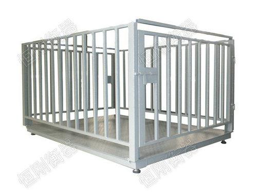 带围栏畜牧秤图片