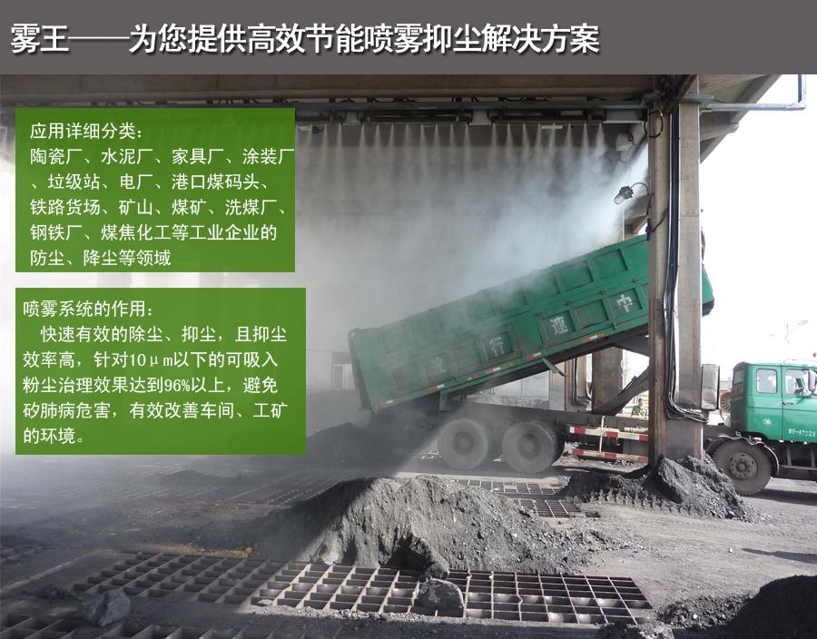 喷雾除尘装置适用行业